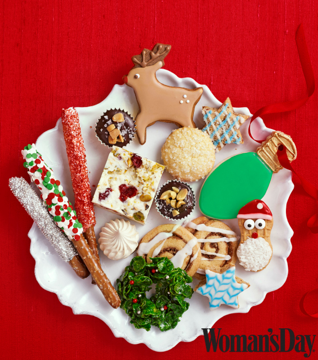 Holiday Cookies on Plate from Woman's Day