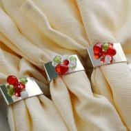 DIY Beaded Napkin Rings for the Holidays