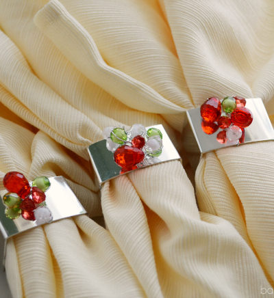 holiday napkin rings tutorial