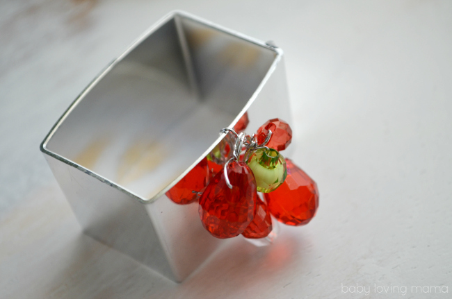 napkin ring craft with beads