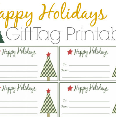 Happy Holidays Gift Tags Free Printable for Download
