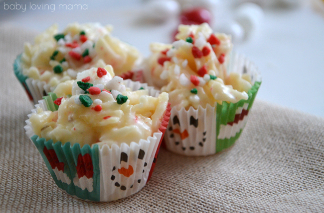 Peppermint Potato Chip Candy with Sprinkles