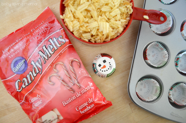 Peppermint Potato Chip Candy with Wilton