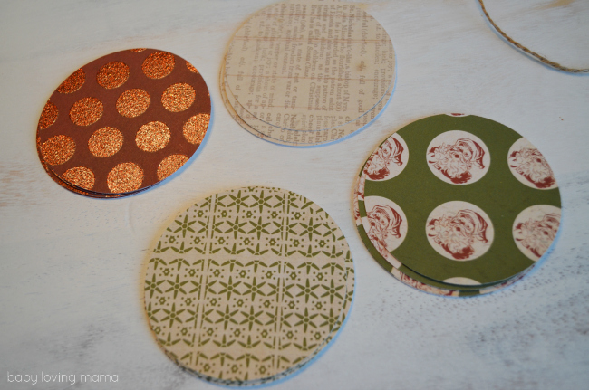 Vintage Paper Ornaments Paper Circles
