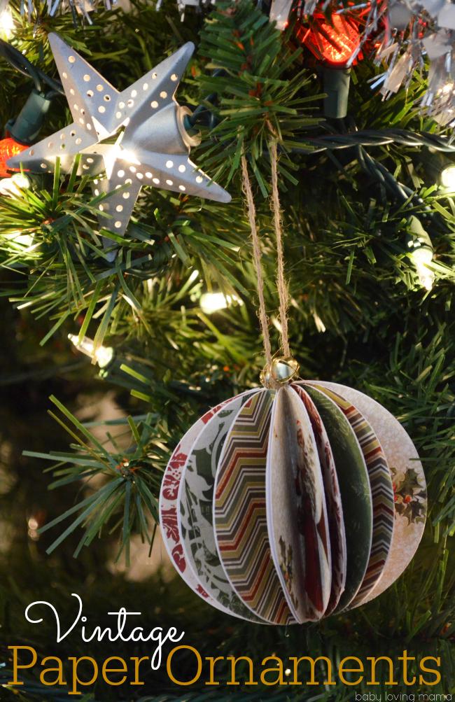 Diy Vintage Paper Ball Ornaments Tutorial