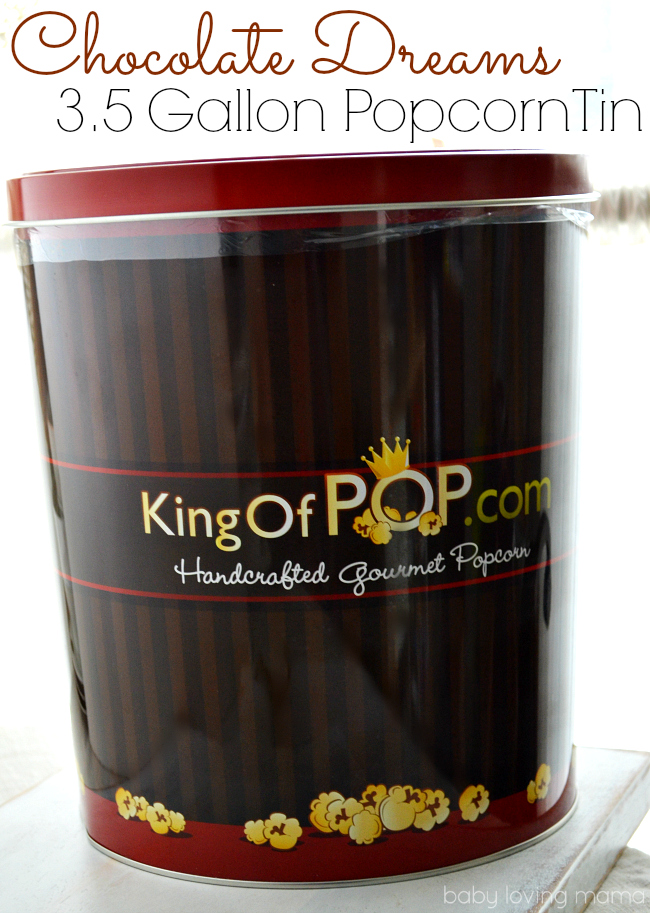 Chocolate Dreams Popcorn Tin from King of Pop