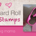 Cardboard Roll Heart Stamp Craft for Valentine's Day Cards | Inspired by Pinterest