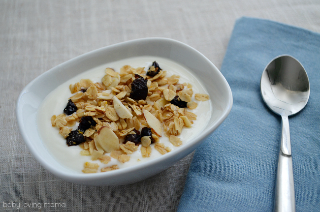 Homemade Granola with Dried Plums and Almonds