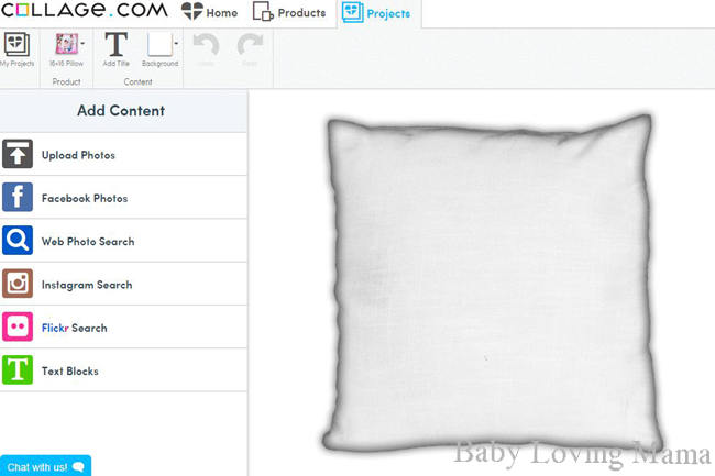 Collage.com pillow