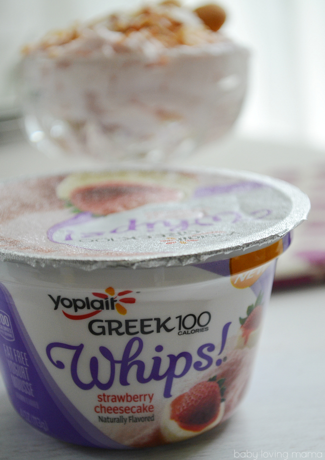 Yoplait Greek 100 Whips! Strawberry Cheesecake