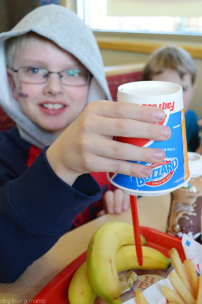 Dairy Queen Blizzard Get Upside Down