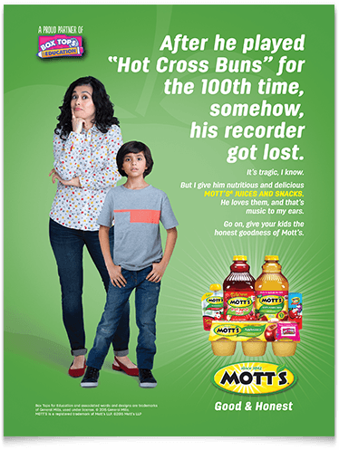 Motts Good and Honest Ad 3
