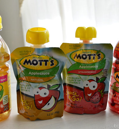 Motts Juice and Applesauce Pouches