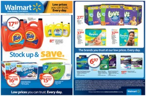 Walmart PG April Stock Up and Save Flyer