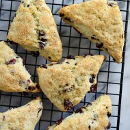 Cranberry Orange Scones with Orange Butter