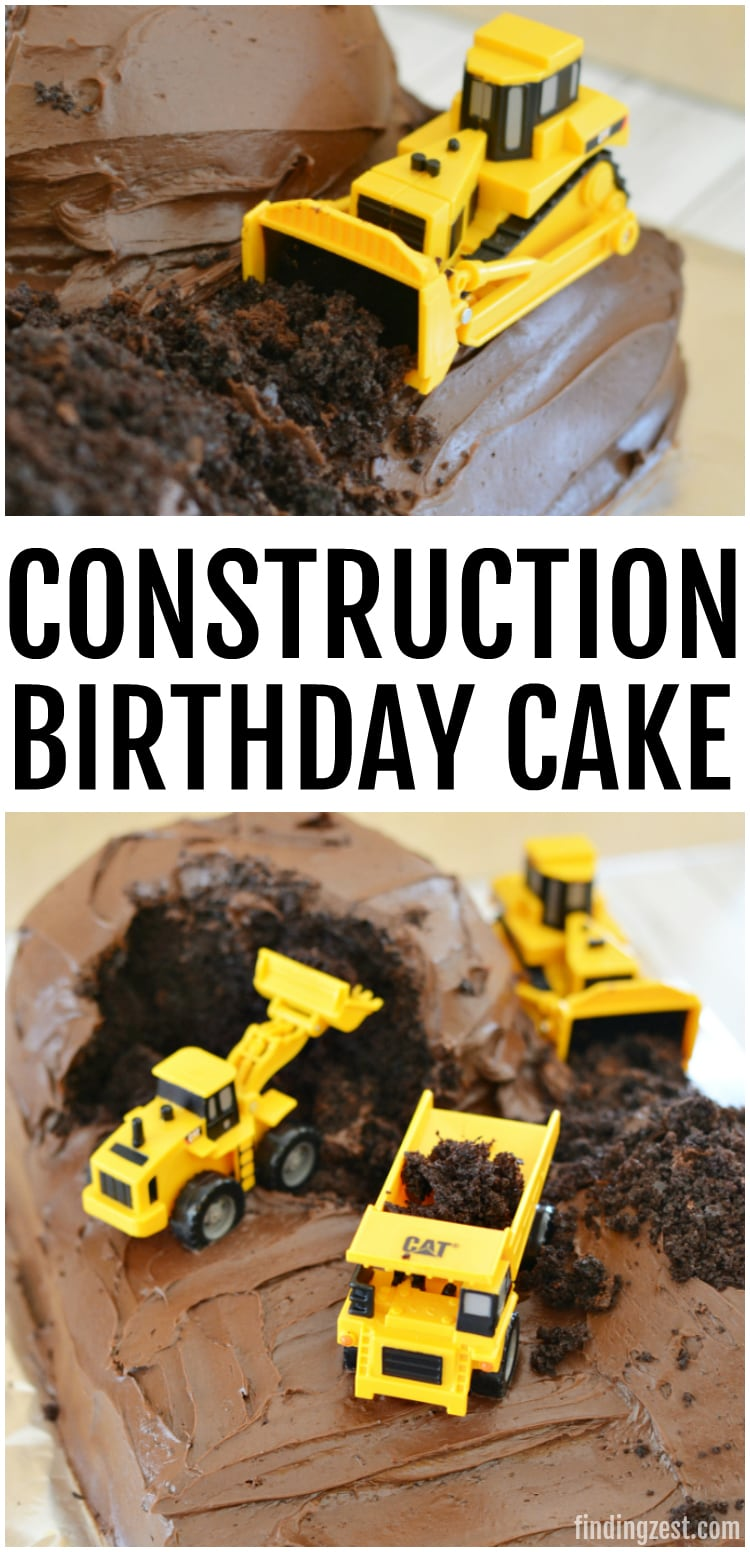 Learn how easy it is to make a construction birthday cake, even with no cake decorating experience or special tools! This construction cake is the perfect base for adding candy rocks or cookie dirt for an even more elaborate design. Kids and adults will love this simple birthday cake idea.