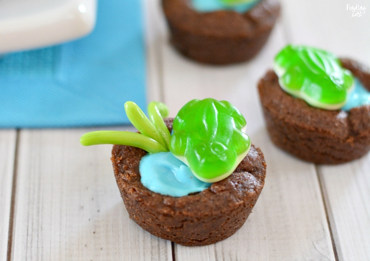 Cute frog dessert for a party or leap year celebration