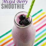 Mixed Berry Smoothie with Greek Yogurt