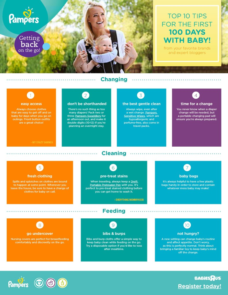 Top 10 Tips for the First 100 Days with Baby Pampers and Babies R Us