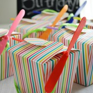Rainbow Helicopter Party Favor Boxes