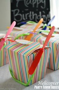 Rainbow Helicopter Party Boxes