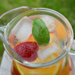 Strawberry Orange Basil Infused Water