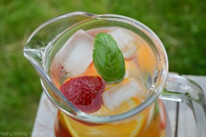 Strawberry Orange Basil Infused Water