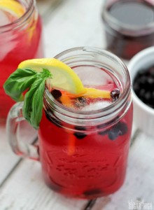 Blueberry and Basil Lemonade