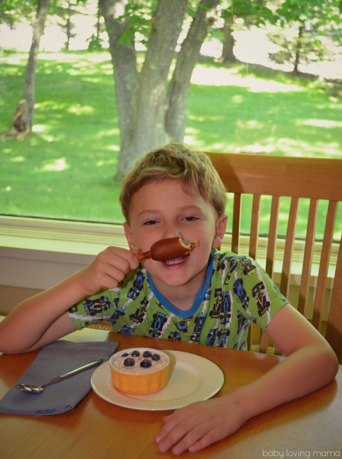 Jimmy Dean Pancake and Sausage on a Stick Mustache