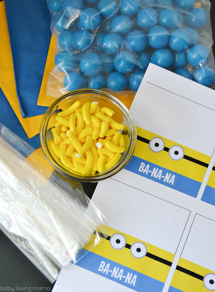 Minions Treat Printable Supplies