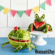 Watermelon Party Animals: Watermelon Bowls, Drink Dispenser and Centerpieces