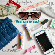 What's in My Bag? + Discreet Protection with Tampax Pocket Pearl