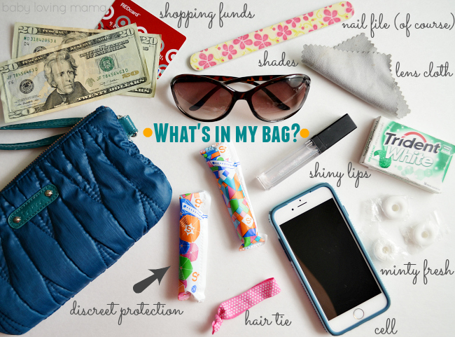 Whats in My Bag Tampax