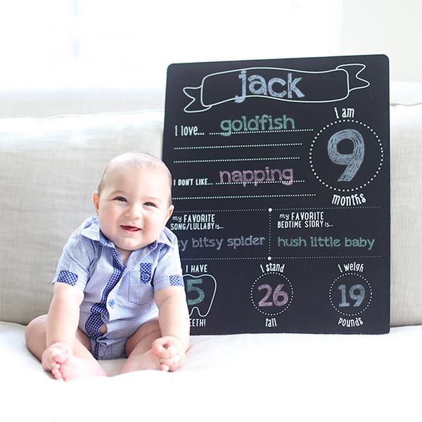 Pearhead Baby & chalkboard