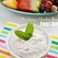 Strawberry Marshmallow Fruit Dip