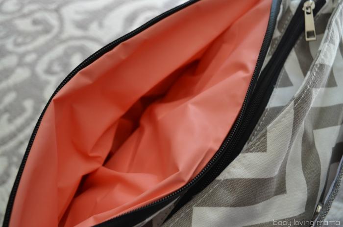 UOBS Baby KTan SmartGear Diaper Bag Inside
