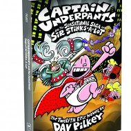 Captain Underpants and The Sensational Saga of Sir Stinks-a-Lot:  Kids Review #PilkeyPower