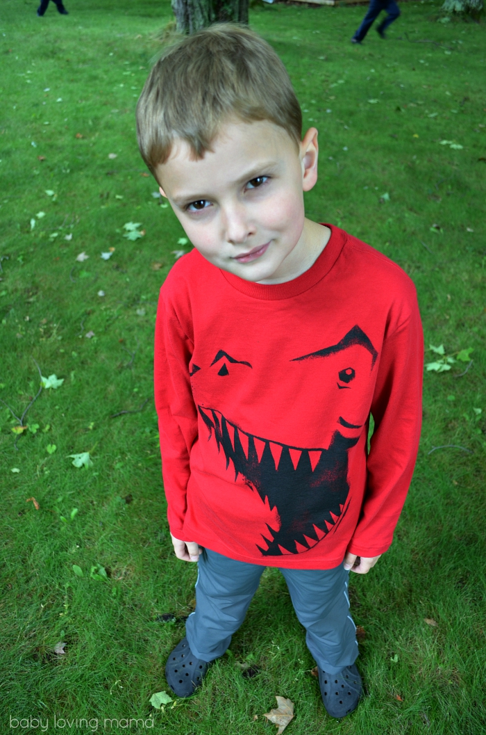 Childrens Place Fall Fashion Dinosaur Tee