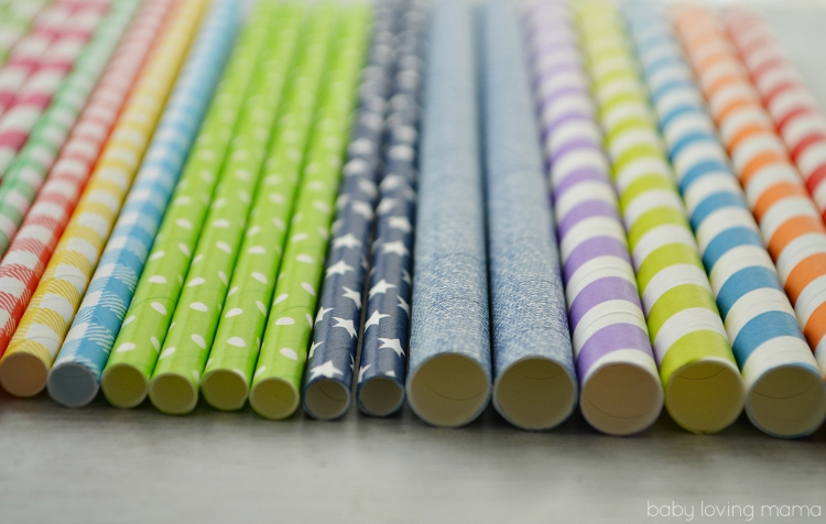 Colorful Paper Drink Straws