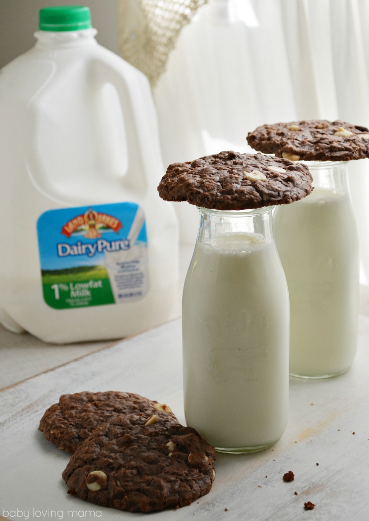 Cookies with Milk in Glass Dairy Cups