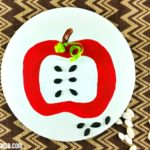 Easy Apple Craft with Paint for Fall