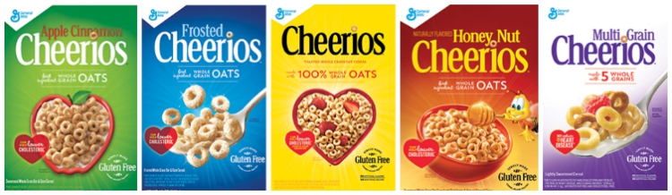 Gluten Free Cheerios Varieties