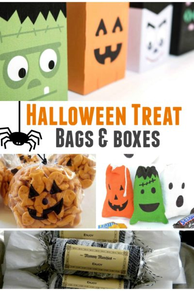 Halloween Treat Bags and Boxes