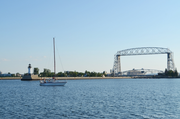 Lake Superior Aerial Lift Bridge in Duluth MN