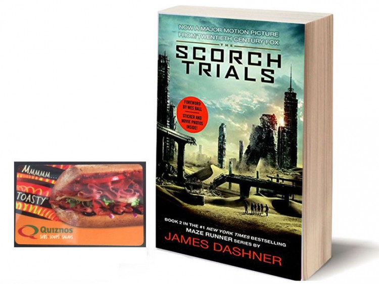 Maze Runner Scorch Trials Quiznos GC Giveaway Prize
