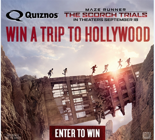 Maze Runner Sweepstakes with Quiznos