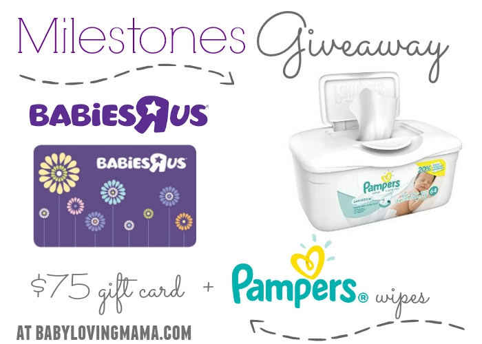 Milestones Giveaway with Babies R Us and Pampers