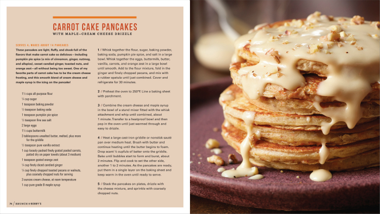 Carrot Cake Pancakes Bobby Flay