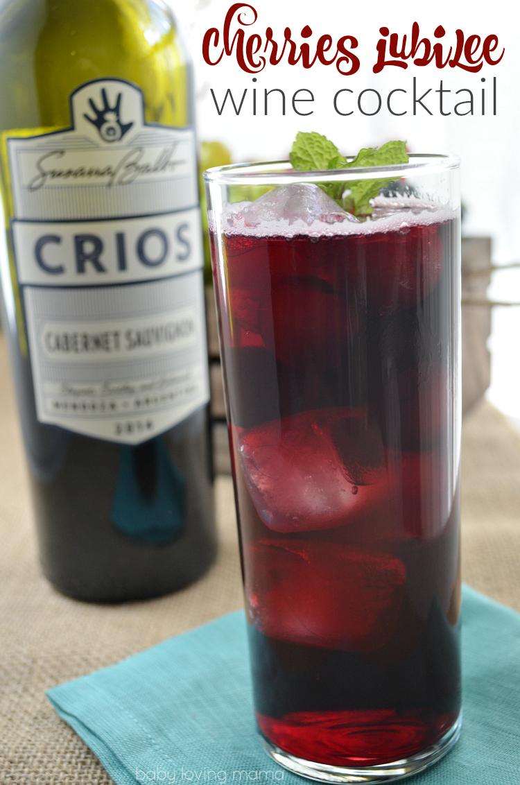 Cherries Jubilee Wine Cocktail