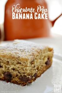 Chocolate Chip Banana Cake for Mini Chef Monday